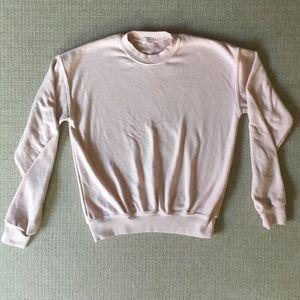 Brandy Melville John Galt cropped blush sweatshirt